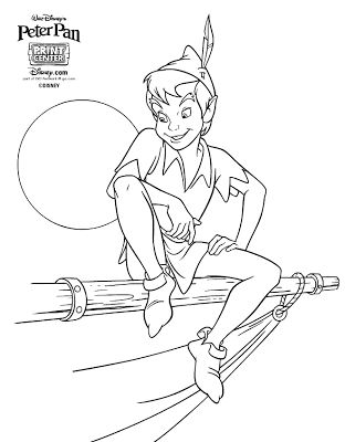 free disney peter pan coloring pages