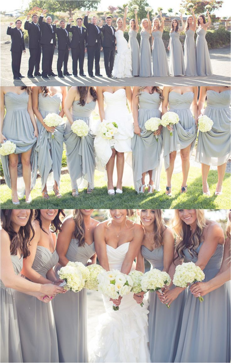 more gray :)    Jasmine Bridesmaid in Platinum    http://www.stylemepretty.com/gallery/gallery/8333