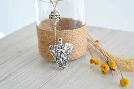 Lariat Y Greek Spiral Necklace Silver Spiral Y Shaped