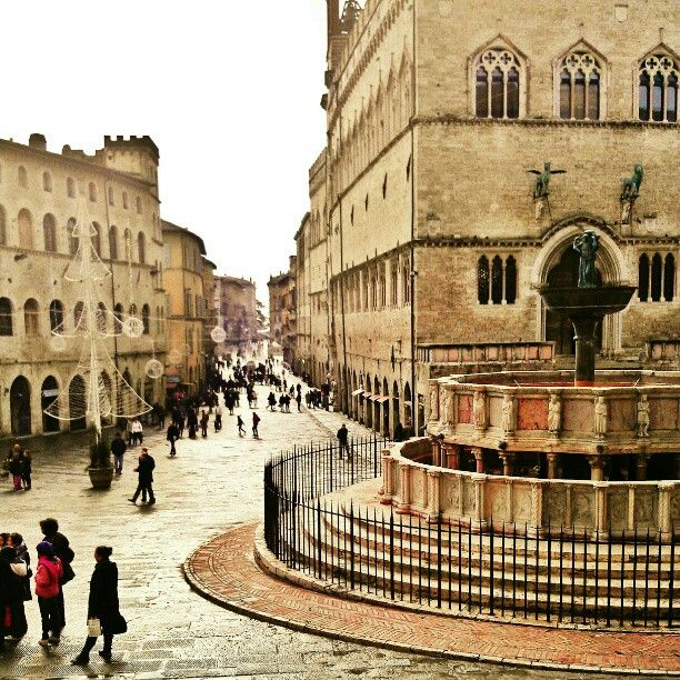 Piazza IV Novembre nel Perugia, Umbria