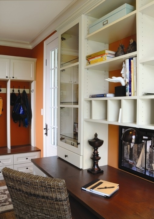 17 best ideas about mud room lockers on pinterest for Mudroom office