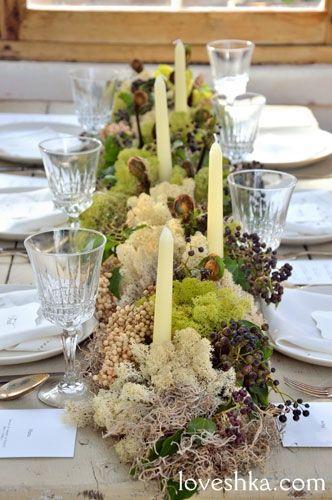 ゼクシィ掲載 / コケ / キャンドル / テーブル / 装花  / ウェディング / 結婚式 / wedding / オリジナルウェディング / プティラブーシュカ / トキメクウェディング