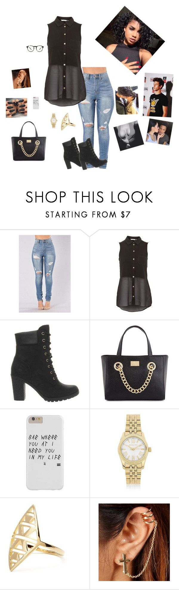 """🙈🙈ride--Somo"" by trilliestbitch ❤ liked on Polyvore featuring Timberland, Kardashian Kollection and Michael Kors"