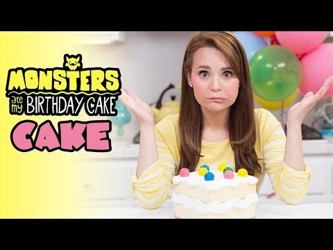 MONSTERS ATE MY BIRTHDAY CAKE... CAKE! - NERDY NUMMIES - YouTube