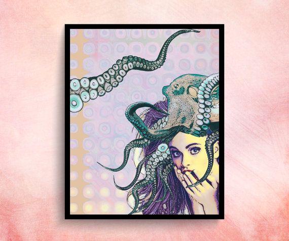 Poster Pop Art Poster Prints Teen Bedroom Decor Purple by ChicsCo