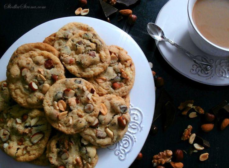 Słodka Strona: Amerykańskie Ciasteczka z Orzechami i Czekoladą - ...