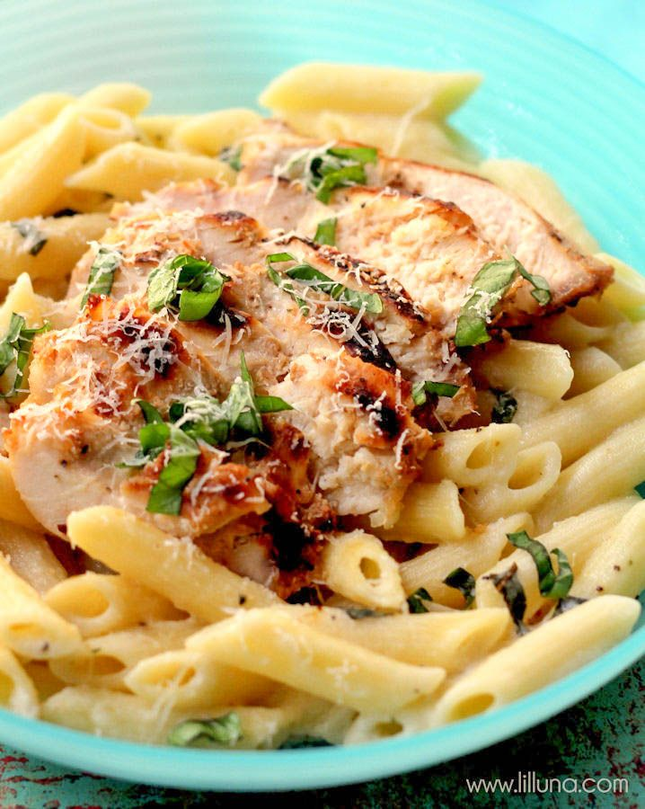 Lemon Chicken Pasta recipe - a new family favorite!