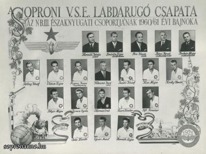 Az SVSE tablója 1960/61-ből