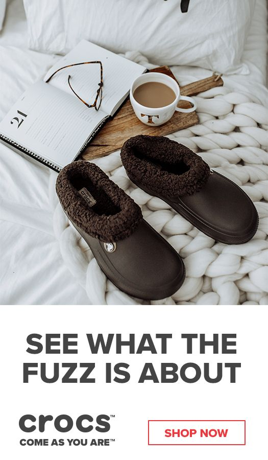 68644dbb815d0 Stay comfortable this winter the the Crocs Fuzz Collection of clogs ...
