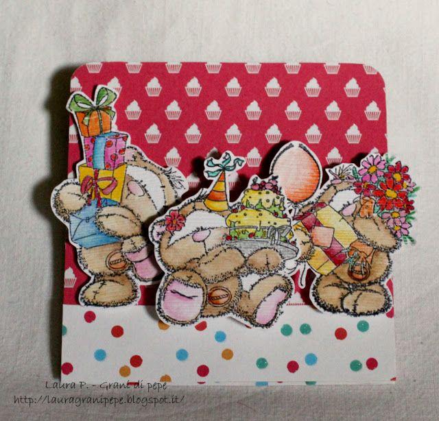 Grani di pepe: Happy birthday - easel card