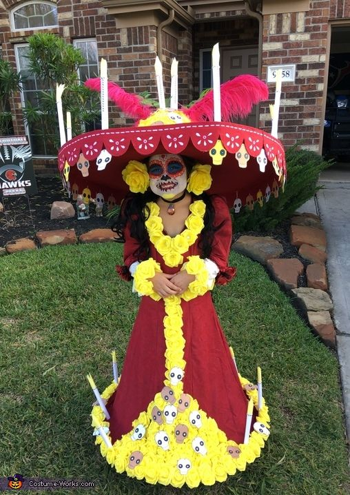 La Muerte from The Book of Life - 2016 Halloween Costume Contest via @costume_works