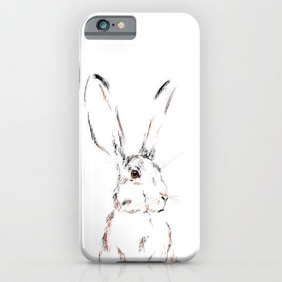 Hare Today III iPhone & iPod Case by Art By Chrissy Taylor - $35.00