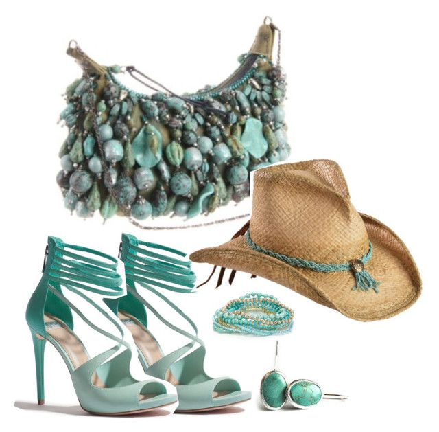 """turquoise summer"" by toosisdesign on Polyvore featuring moda, Accessorize ve GUESS by Marciano"