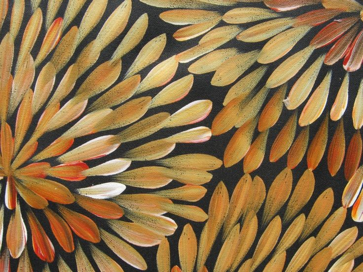 Bush Medicine Leaves. Detail of painting by Lousie Numina, niece of Gloria…