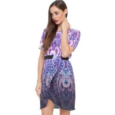 Fate Mosaic Tile Dress Dresses Available in Digital Dip Print - Fashion Brand Sale