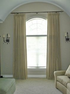 pictures of window treatments for rounded windows | Arched top windows traditional window treatments