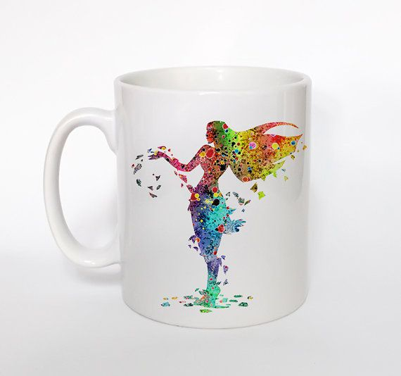 Pocahontas 2 Mug Kids Mug Milk Cup Watercolor Art Cup by ArtsPrint