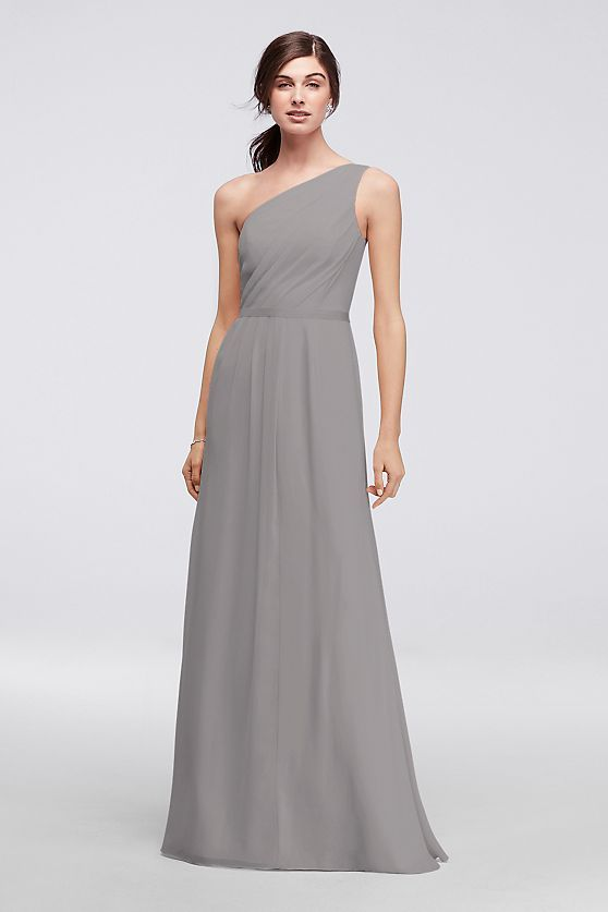 1af1112d68e Side-Ruched One-Shoulder Bridesmaid Dress Style POB17003