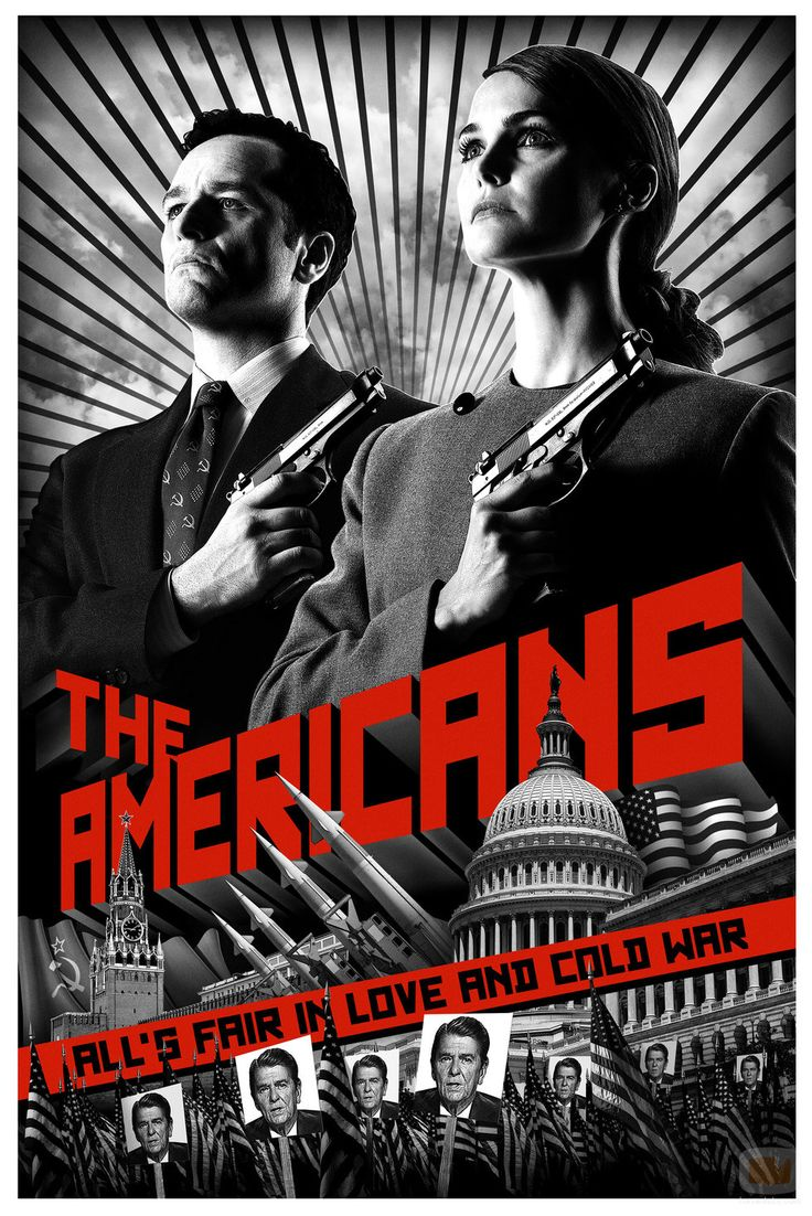 The Americans. Key words: spies, KGB, Russia, FBI, CIA, USA, the cold war era, the 60's. I'd give it 8,4/10.