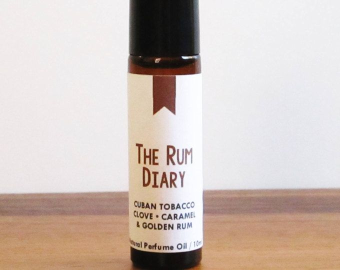 THE RUM DIARY / Cuban Tobacco Clove Caramel & Golden Rum / Book Inspired / Hunter S Thompson / Roll-On Perfume Oil