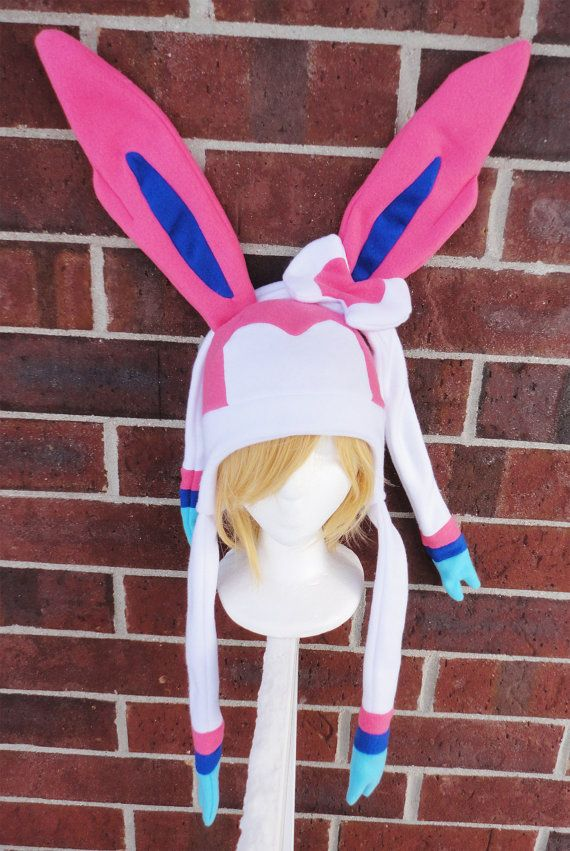 Sylveon Pokemon Hat  A winter nerdy geekery gift by Akiseo on Etsy, $30.00