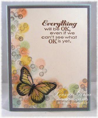 Beautiful butterfly encouragement card using Bokeh technique
