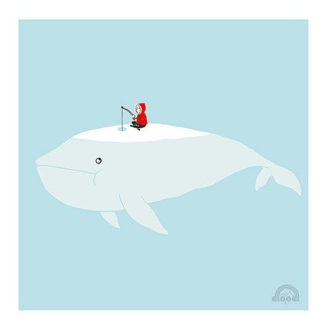 lol, wonder if this has ever happened to my husband while ice fishing...do whales like the cold?