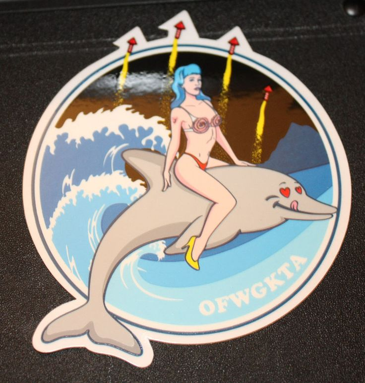 ODD FUTURE OFWGKTA Sticker DOLPHIN RIDE BAND LOGO decal New TYLER THE CREATOR