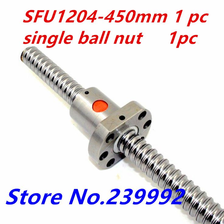 1204 <b>Ball Screw</b> SFU1204 450mm <b>Rolled</b> C7 <b>Ballscrew</b> with single ...