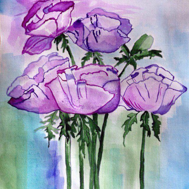 Маки.акварель.watercolor