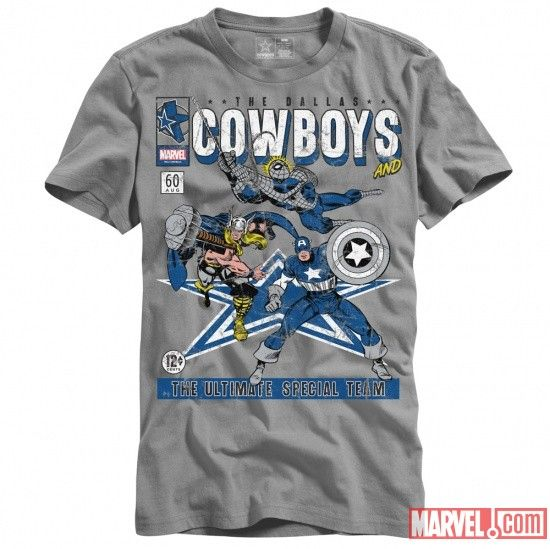 Thor, Captain America, Iron Man and more make their way to the sports world through Dallas Cowboys clothing line