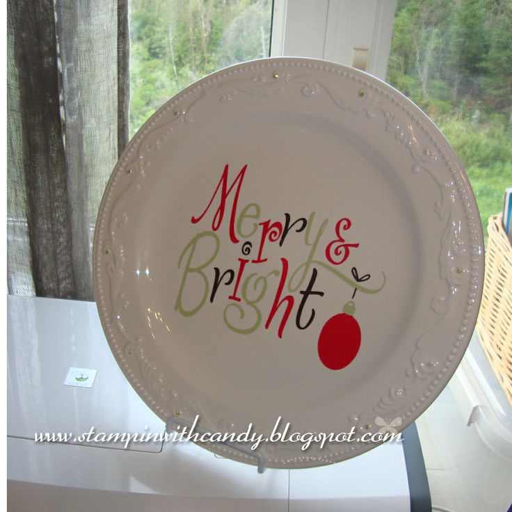 cricut projects with vinyl | Stampin With Candy: Merry & Bright : Christmas vinyl decor