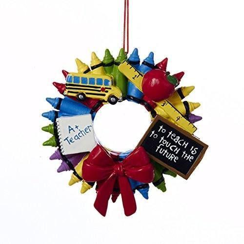 Teacher - Crayon Wreath Ornament