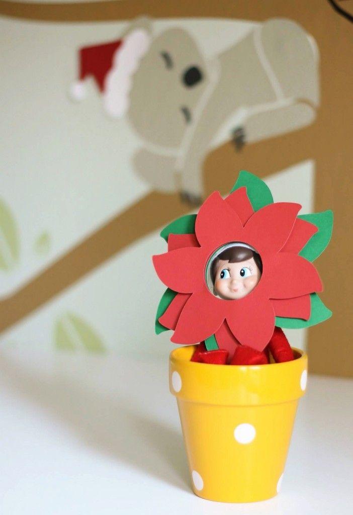 Elf on a Shelf Poinsettia (Cricut Design Team)