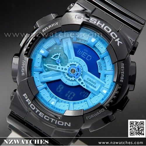 Casio G-Shock Hyper Colors Analog Digital Display Watch GA-110B-1A2, GA110B