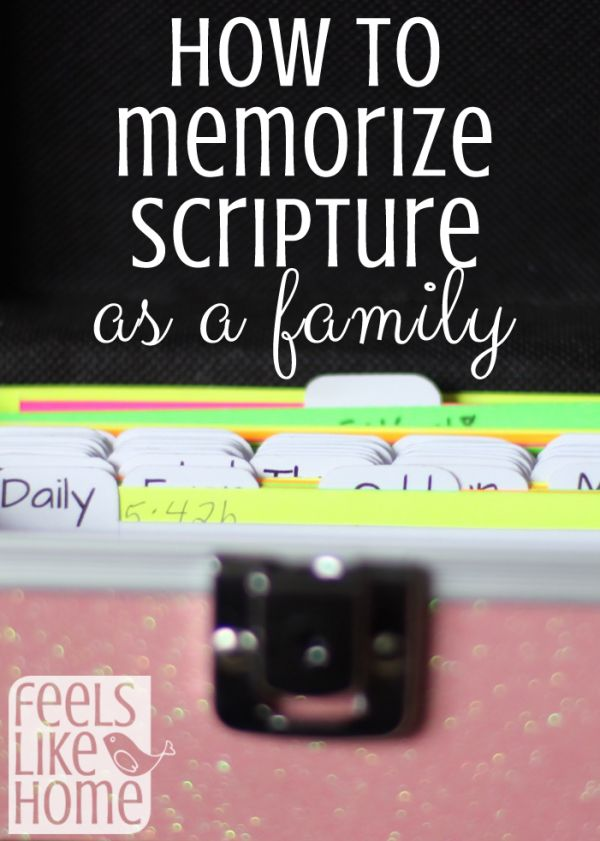 How to memorize scripture as a family