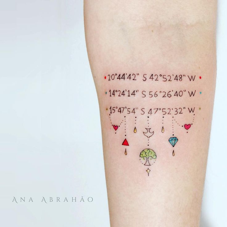 42 Stunning Coordinate Tattoo Design Ideas You Won T Regret: The 25+ Best Coordinates Tattoo Ideas On Pinterest