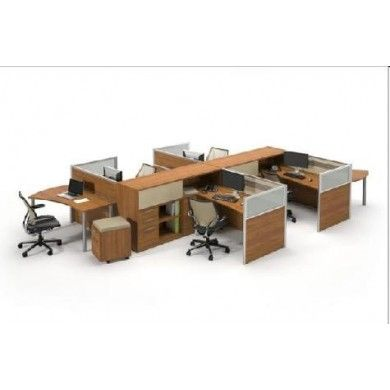 four person modular workstation in austin compact officework