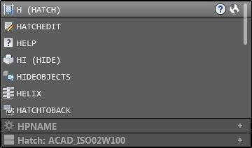 AutoCAD 2014 Command Line Categories: To make the suggestion list easier to navigate in AutoCAD 2014, system variables and other content are organized into expandable categories. You can click the plus symbol at the right end of the item to expand a category or press the Tab key to cycle through each category.
