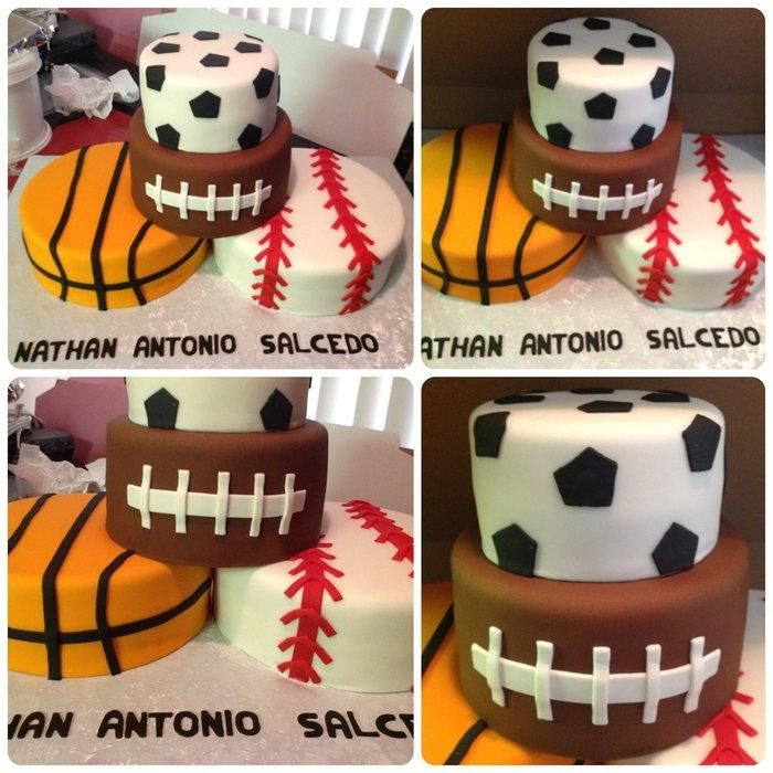 Love the clean look of the sports cake I made!!!! l