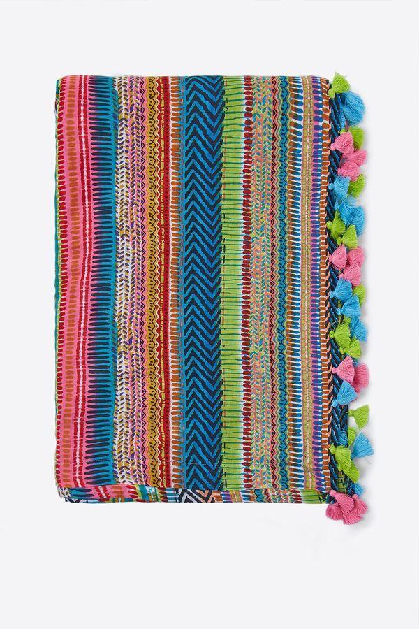 Womensecret Toalla estampado multicolor estampado