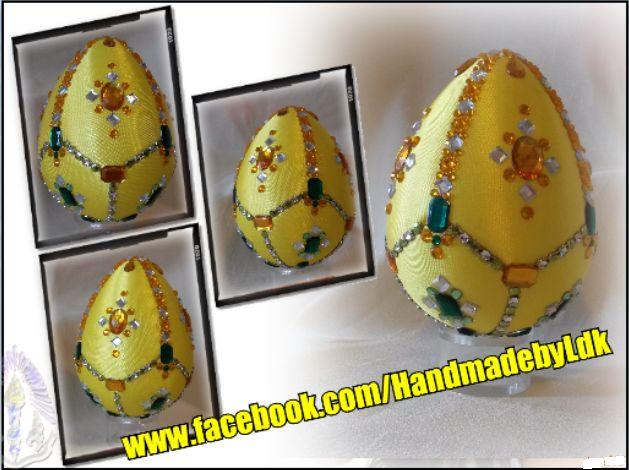 Veľkonočné vajíčko Fabergé, techníka falošný patchwork a kimekomi  je autorský originál z dielničky HandmadebyLdk