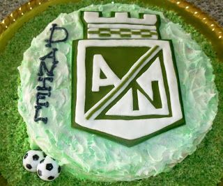 Atletico Nacional Soccer Cake