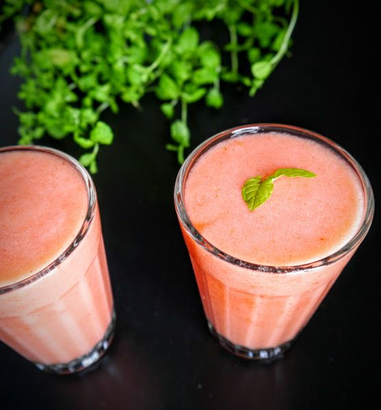 Strawberry smoothie!