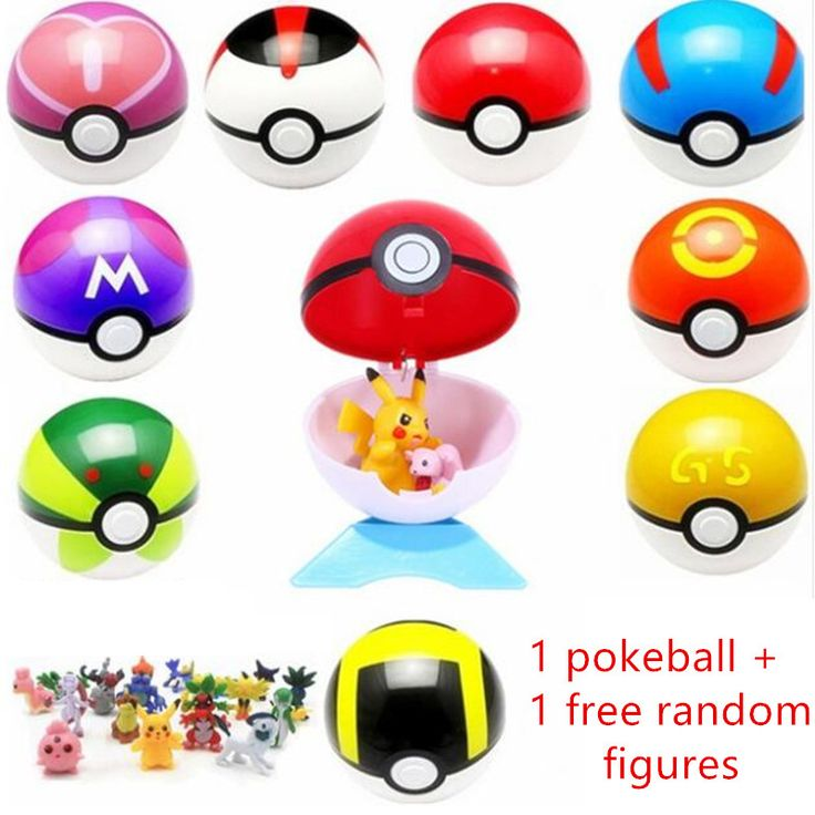 Hot Sale 7CM Pokeball With Ranom Figures Kids Toy Pikachu Go Balls Super Playing Ball Anime Best Gift Game Toys for Children