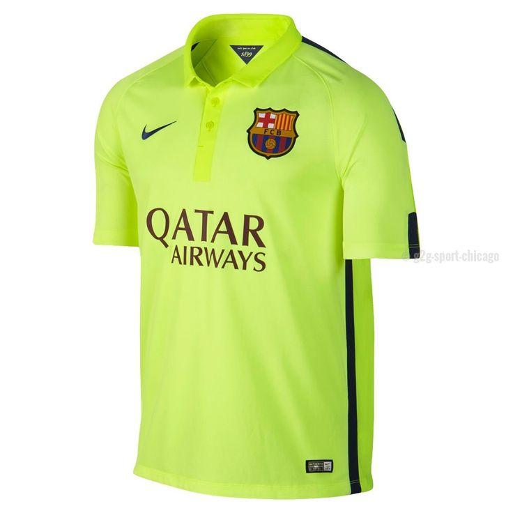 2014 15 fc bacelona 3 pique home soccer long sleeve shirt kit 969adcd40