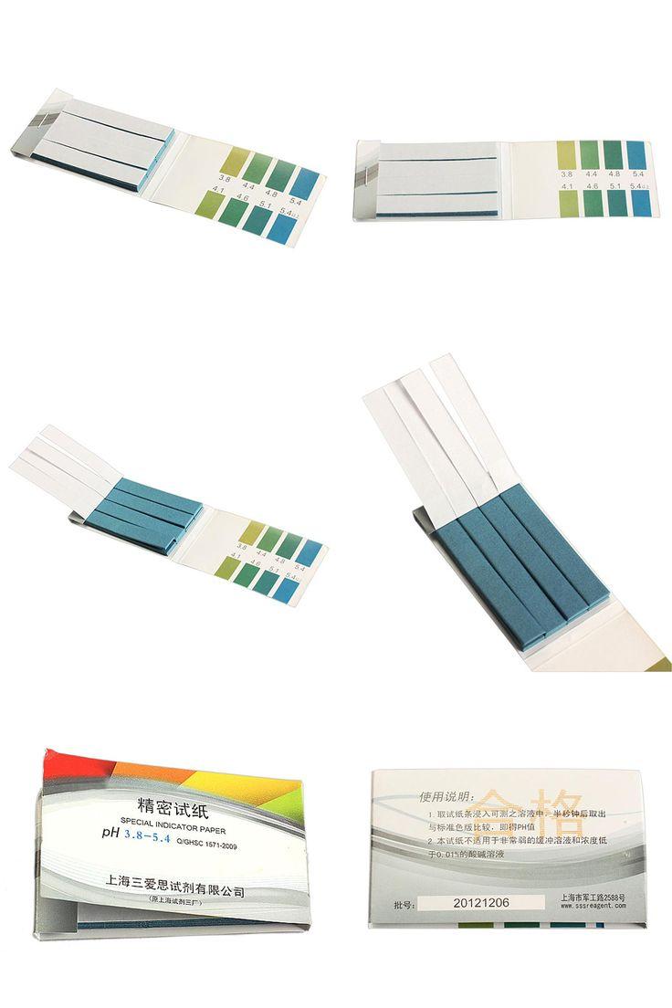 [Visit to Buy] 80 Strips pH 3.8-5.4 Test PH Alkaline Paper Indicating Testing Kit  NG4S #Advertisement