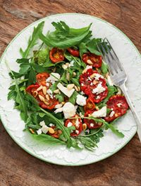 Slow-cooked tomato with feta and basil