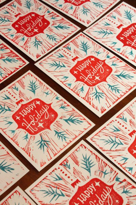 Happy Holidays letterpress                                                                                                                                                                                 More