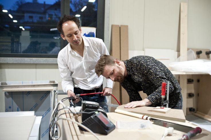Designbattle im Rahmen des Designmonat Graz 2016 bei der Tischlerei Prödl in Kirchberg an der Raab #dmg16 #furniture #production